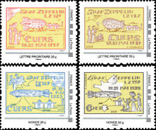 "LZ127N Set 4 Perso stamps ""80 years Touchdown Graf Zeppelin LZ127 in CUERS"" 2009"