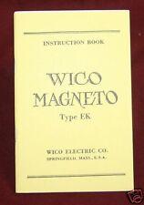 Wico Magneto EK Instruction Manual Hit & Miss IHC
