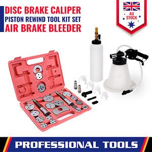 Brake Service Kit Disc Caliper Piston Rewind + Fluid Air Bleeder Auto Car Tool