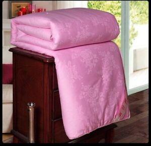Handwork 100%Mulberry Silk Comforter Blankets Silk Quilts Jacquard Cotton Cover