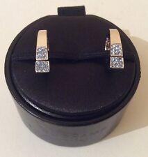 Duchamp Horse Shoe Shaped 924 Silver/light Sapphire Stone Cufflinks