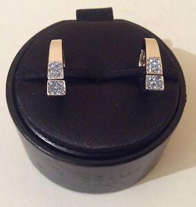 NEW IN Box DUCHAMP White Gold Light Sapphire stone Cufflinks