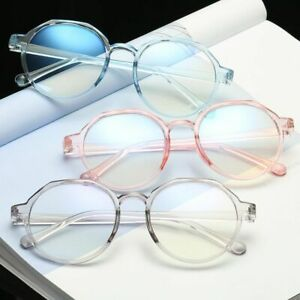 Transparent Lenses Women's Flat Mirror Eyeglasses Plastic Titanium Frame Glasses