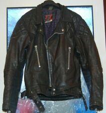 "Vintage 1980's TT Leather Jacket Biker Jacket Size 38"" / 97cm Bernard Castle"