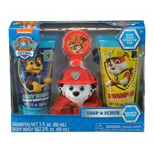 Paw Patrol Soap and Scrub Body Wash and Shampoo Set, Marshall, 4 pie New in box