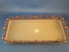 "Partylite Paris Candle Tray Frost Green 9"" by 4.5"" by 1.5"" Mint Condition @H"