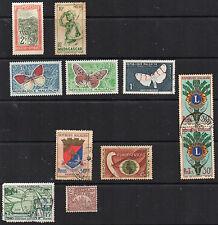 stamps MALAGASY/MADAGASCAR A9 A17 A32(3) A50 A54 A72 D2 CD103 w/ MINT