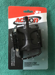 "Action Wellgo LU-955 BMX MTB Mountain Bike Bicycle Pedals 9/16"" Vintage!"