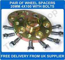 Seat Arosa 97-05 Hubcentric Wheel Spacers 4X100 PCD 57.1 CB 1 Pair + Bolts 20MM