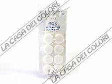 FELTRINI AUTOADESIVI TONDI BIANCHI - DIAM. 24mm - SPESS. 3mm - 3 CONF. DA 8 PZ.