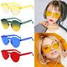 Women Men Fashion Clear Retro Sunglasses Outdoor Frameless Eyewear Glass Gift US