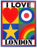 I Love London - limited edition tinplate by Sir Peter Blake