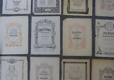 vintage music title page ENGRAVINGS art craft origami decoupage etc , 12 pages