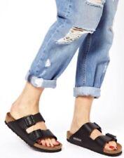 Birkenstock Arizona Soft Footbed BLACK Oiled Leather Sandals Sz 41 US 1 - 10.5