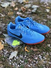 Nike Zoom Rival BLUE Track And Field Spikes MENS 12 With Bag And Spikes NEW!