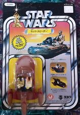 VINTAGE STAR WARS JAPANESE TAKARA 1978 DIECAST LAND SPEEDER MOC 12 BACK