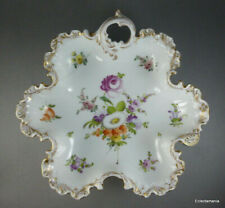 Antique DRESDEN Hand Painted Porcelain Dish - A/F