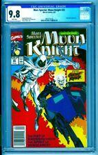 CGC 9.8 MARC SPECTOR MOON KNIGHT #25 NEWSSTAND VARIANT 1991 1ST GHOST RIDER TEAM