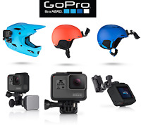 GOPRO helmet Supporto frontale e laterale casco hero 5 4 3 moto bici cross sci
