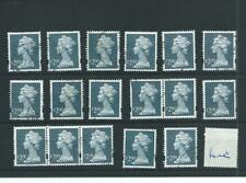 GB - WHOLESALE - MACHIN DEFINITIVES - £2.00 DULL  BLUE  - 17 COPIES - FINE USED
