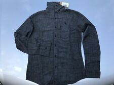 Mens Designer Pearly King Denim Shirt New With Tags BlackSummer Clothing, Small