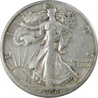 1944 D 50c Liberty Walking Silver Half Dollar US Coin VF Very Fine