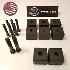 """[SR] CNC Machined Jeep Wrangler 97-06 Front Seat 1.25"""" Risers Lift Spacers BLACK"""