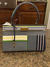 NWT Tory Burch Lee Radziwill Small Handbag - Field Day Stripe MSRP $798