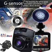 "2.4"" Dual Lens Car Vehicle 1080P HD Dash Camera DVR Cam Night Vision Recorder US"