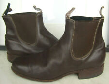 RM Williams Brown Chestnut Leather Boots Mens Size 9 G   WF Made In Australia