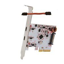 "2-port USB 3.1 10 Gbps Type-C PCI-E x4 slot Controller Card + free SATA 5"" Cable"