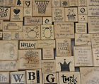 Stampin Up Wood Mount Rubber Stamps 1996 to 2007 Single Stamps U PICK
