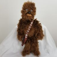 Disney Store Star Wars Chewbacca Chewy Plush With Bag Stuffed Doll Large 18.5""