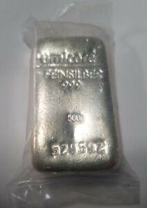 Umicore 500g Silver Bullion Bar 999.0 SEALED