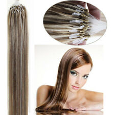 """Easy Loop Micro Ring Beads Tip Brazilian Remy Human Hair Extensions Straight 18"""""""
