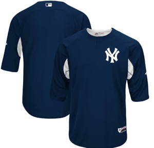 New York Yankees Majestic Authentic Collection On-Field Batting Practice Jersey
