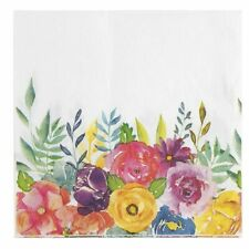 100PC Floral Disposable Paper Napkins for Weddings Party Supplies 2-Ply