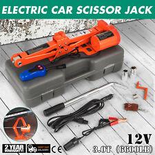 3 Ton Automotive Electric Scissor Car Jack Lift Wrench 12V DC Power