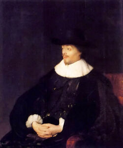 Oil painting Jan Lievens - portrait of constantijn huygens young man seated art