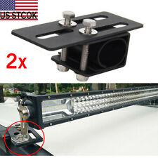 2x Car Roof Rack Light Bracket Holder Bumper Mounting Kit for LED Work Light Bar