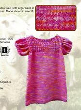 Sonatina Baby Dress - Brown Sheep Company Knitting Pattern #0910 Sizes 3mo-18mos