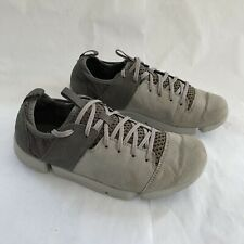 Clarks Trigenic Womens Tri Active Gray Leather Lace Up Shoes Sneakers size 7 M