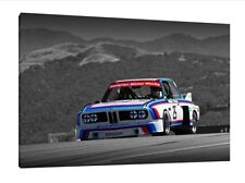 BMW 3.0 CSL - 30x20 Inch Canvas - Framed Picture Print