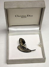 Christian Dior BIJOUX Sterling Silver 925 Pin Brooch Germany w BOX Vintage s925
