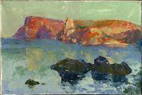 """Russischer Impressionist Öl Leinwand """"Sonniger Tag"""" 45x30 cm"""