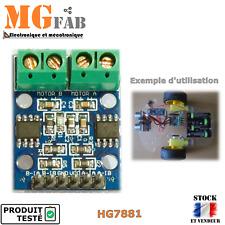 HG7881 contrôleur pour 2 moteurs DC ou 1 PaP pont en H   driver Stepper Arduino