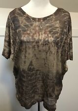 Katies Metallic Knit Top Size 1X Plus Casual Work New BNWT