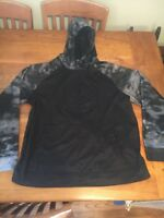 Mens And 1 Hoodie Size Large Sweatshirt Black Grey Camo Excellent