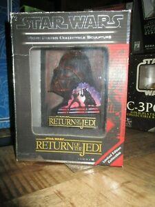 star wars-Code 3 collectibles-Sculpture 3D Affiche-Le retour du Jedi-Rare-
