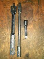 "KINCROME Hinged Breaker Bar 1/4"" SWIVEL socket 140mm+ 50mm & 150mm Extensions"